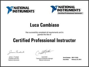 Diploma Certified Professional Instructor di Luca Cambiaso